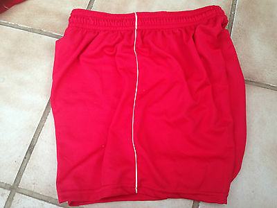 Red Football Shorts boys size 26/28""