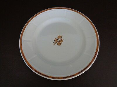 Anthony Shaw Tea Leaf Ironstone Plate With Copper Luster Trim (Cat.#14C056)
