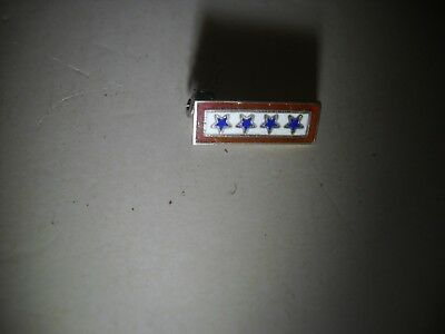 WWII Sterling 4 Sons In Service Blue Stars Home Front Pin