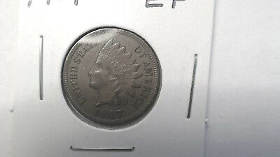 1907 Indian Head Cent. Extremely Fine. Excellent addition to your collection.