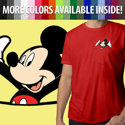 Unisex V-Neck Top Tee T-Shirt Mickey Mornings Should Start At Noon Mens