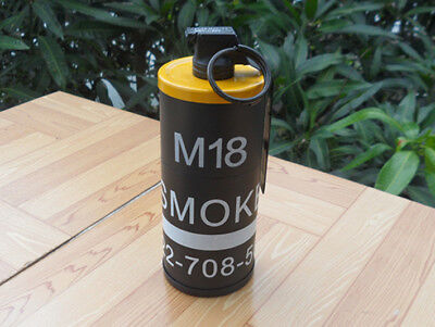 DUMMY M18 SMOKE Grenade Cigarette Case & Windproof Lighter Tactical Props  Yellow