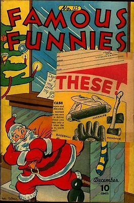 FAMOUS FUNNIES 125- Christmas cover
