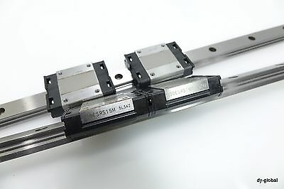 Miniature Caged Linear Bearing THK SRS15M+550mm Used LM Guide RSR15 LWL15 CNC