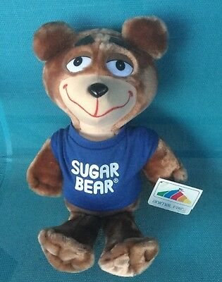 Vintage Sugar Bear Plush Toy New With Tags Animal Fair 1987 Post Cereal