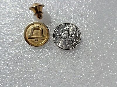 Vintage Bell Telephone Co Goldtone Pin Lapel Tie Pinback