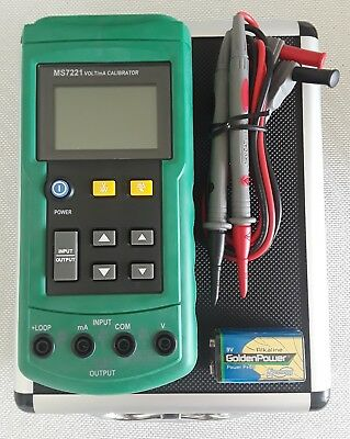 MS7221 Volt/mA Voltage Loop Calibrator with Test Leads, 9V Battery, Manual, Case