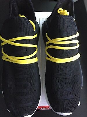 5ed42b55aaa ADIDAS NMD X Pharrell Williams Human Race Black Yellow Lace SZ 9.5 ...