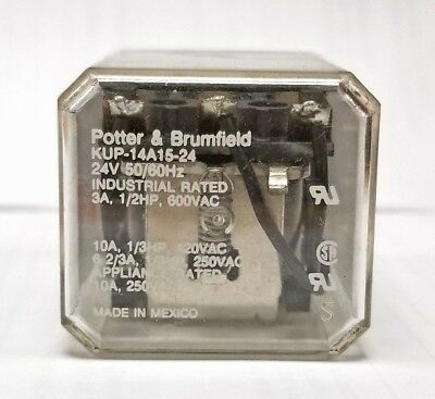 Potter & Brumfield KUP-14A15-24 24V 3A 11-Pin Power Relay