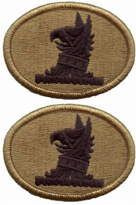 2 Pack Delaware Army National Guard OCP Scorpion Hook Back Military Patches
