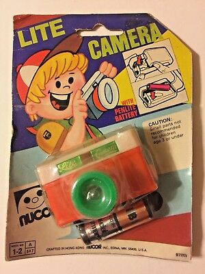Vintage 1970's Nucor Lite Camera Toy Flashlight Hong Kong Toy Camera Replica