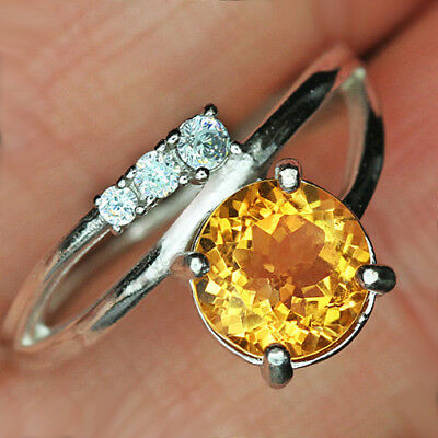 13.2CT 100% Natural 18K Gold Plated Unique Golden Citrine Faceted Ring UDQY27
