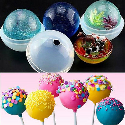 5 Sizes DIY Sphere Ball Silicone Mold Mould For Creative Resin Craft Ball Hot