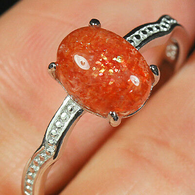 8.6CT 100%Natural 18KGold Plated Golden Strawberry Rutilated Quartz Ring UDGE122