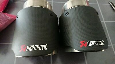 Akrapovic exhaust tail pipes