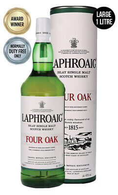 Laphroaig Four Oak Single Malt Scotch Whisky 1 Litre(Boxed)