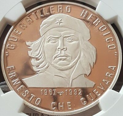 1992 10 pesos Proof High Grade Guerrillero NGC PF68 Ultra Cameo Caribbean
