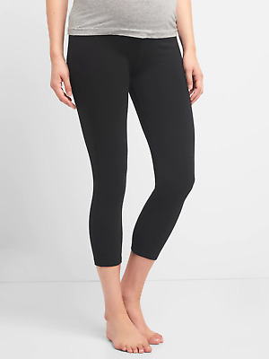 Gap Black Maternity Pure Body Low Rise Capri-M-NWT