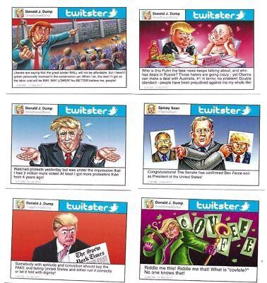 TOPPS WACKY PACKAGES/GPK TWITSTER / Donald TRUMP twitter parody sticker card set