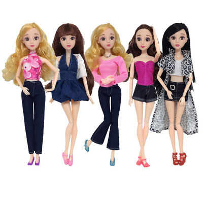 Handmade Casual Dress Pants Party Mini Gown Clothes Sets For Barbie Dolls STDE
