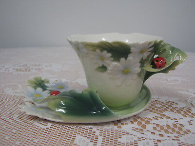 Franz Tea Cup and Saucer Ladybird Design