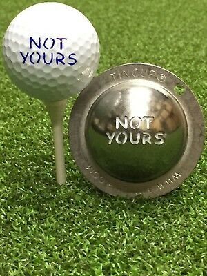 1 only TIN CUP GOLF BALL MARKER - NOT YOURS,  EASY TO DO & Yours For Life