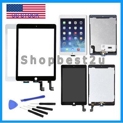 For iPad Air 2 A1566 A1567 LCD Display Screen Touch Digitizer Assembly Lot US