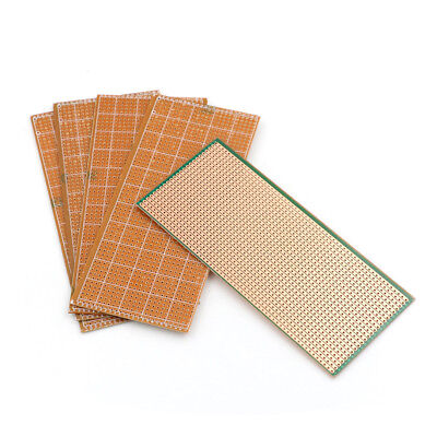 5X 6.5x14.5cm Stripboard Veroboard Uncut PCB Platine Single Side Circuit Board /
