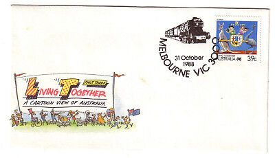 "1988 PictPMK. Steam Train Pictorial Postmark. ""MELBOURNE"""