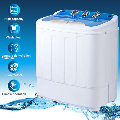 Merax 13lbs Portable Mini Washing Machine Compact Twin Tub Washer Spin & Dryer