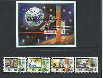 1983 World Communications Year set of 4 Stamps & Mini Sheet complete MUH/MNH