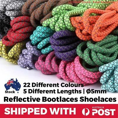 Shoelaces Round Reflective Sneaker Casual Shoes Night Runners Joggers School