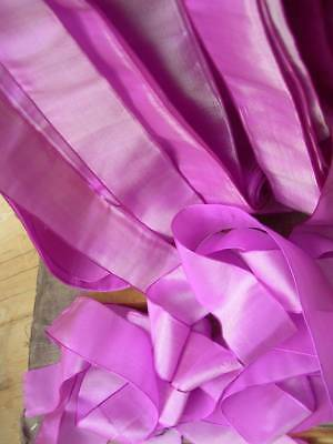 20 metres (21 yards) antique French pure silk ribbon - St. Etienne 1920s