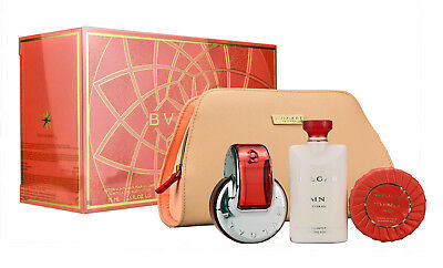 Bvlgari  Bulgari Omnia Coral 65ml EDT+ 75ml Body Lotion+75G Soap + Beauty Pouch