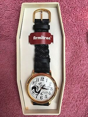 Brand New MEN'S Pepe Lew Pew Armitron Watch needs battery FREE SHIPPING