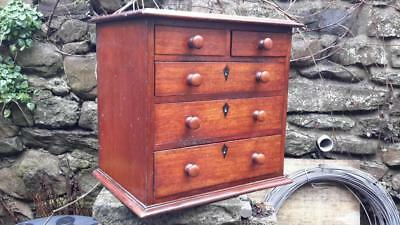 Antique Victorian Miniature Chest of Drawers Apprentice piece Mahoghany