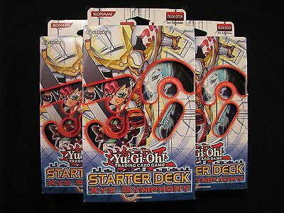 Yu-Gi-Oh! 3x Trading Card game Starter Deck XYZ Symphony 1st Edition English