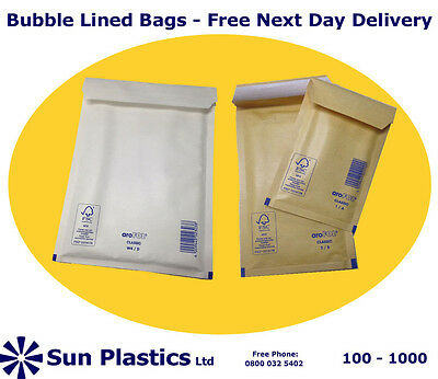 Bubble Lined Mailers - Arofol official brand - Free Next Day Delivery -all sizes