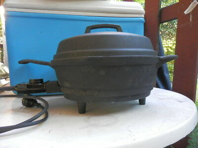 Retro Breville Country Kitchen Cast Iron Frypan Slow Cooker Excellent Condition