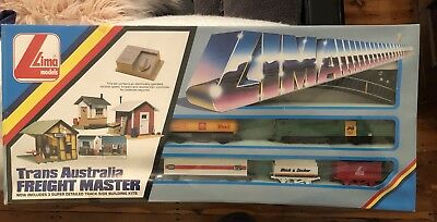 Lima Model Train Set Trans Australia Freight Master National Engine Shell Tanker