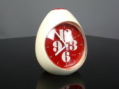 Réveil oeuf alarm clock egg MIRAGE Germany 70's vintage