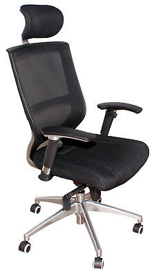 Chair Office Swivel Advantage Rest Black Headrest Adjustable Black