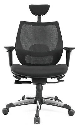 Chair Swivel Executive Headrest Adjustable Anti-shock Tilt Black