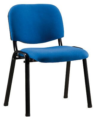 Chair Confident Basic 4 Legs Metal 530 x 560 x 80 mm Seat Upholstered Blue