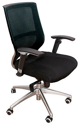 Chair Office Swivel Advantage Adjustable Regulation Arm Leather Synthetic Black