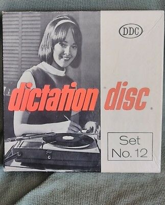 VTG Dictation Disc DDC Shorthand Transcript Print key 45RPM RECORDS From Set 482