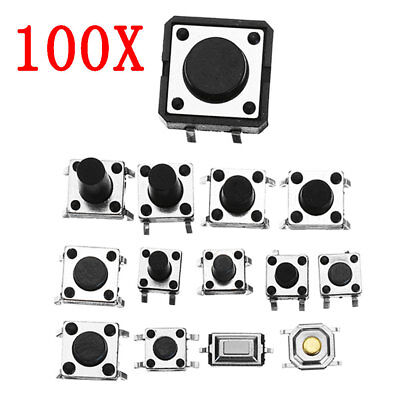 Total 1200pcs Tactile Tact Mini Push Button Switch Packet Micro Switc