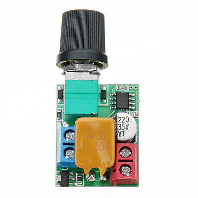 DC 5V To 35V 5A Mini Motor PWM Speed Controller Ultra Small LED D