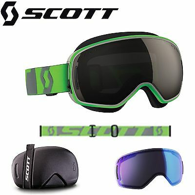 Scott LCG Sno-Cross Goggles Green Skiing Snowboarding Boys Girls Womens Mens