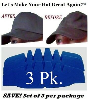3Pk. Caps Crown Insert| Fitted Caps Support| Hat Liner Shaper | Hat Storage Aide